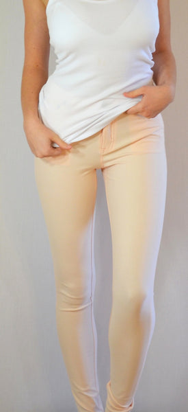 K750 Mid Rise Stretch Skinny in Pale Pink