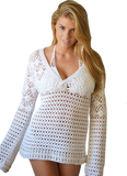 K775  Ultra Soft, Beaded Cotton Pullover in Cream