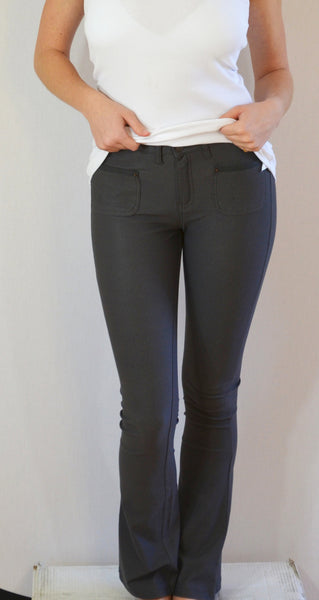 K767 Boot Cut Stretch Jeans in Titanium