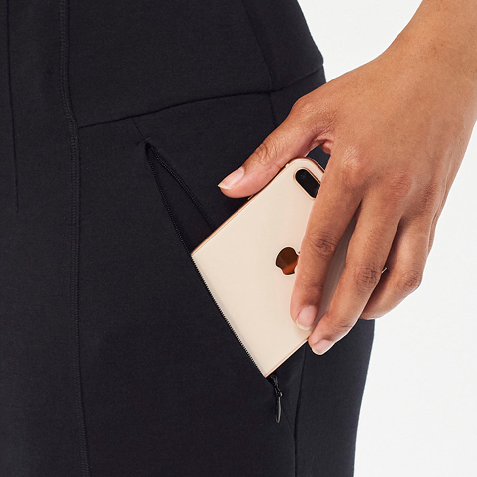 Secure zip pockets fit your phone