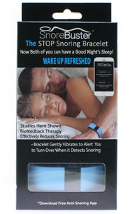 SnoreBuster. New Snore Stopper Device. Snore Solution Bracelet, Designed To Stop Snoring After Several Uses. Alternative Snoring Aid To Chin Straps, Pillows, Strips. Relief From Your Snoring!
