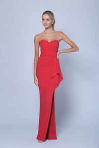 BLOSSUM DRAPED GOWN