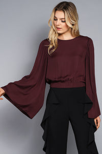 WIDE SLEEVE CROP TOP