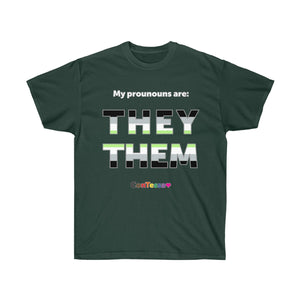 Agender My Prounouns They/Them - Unisex Ultra Cotton Tee