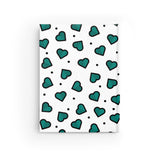 Teal Hearts Journal - Ruled Line