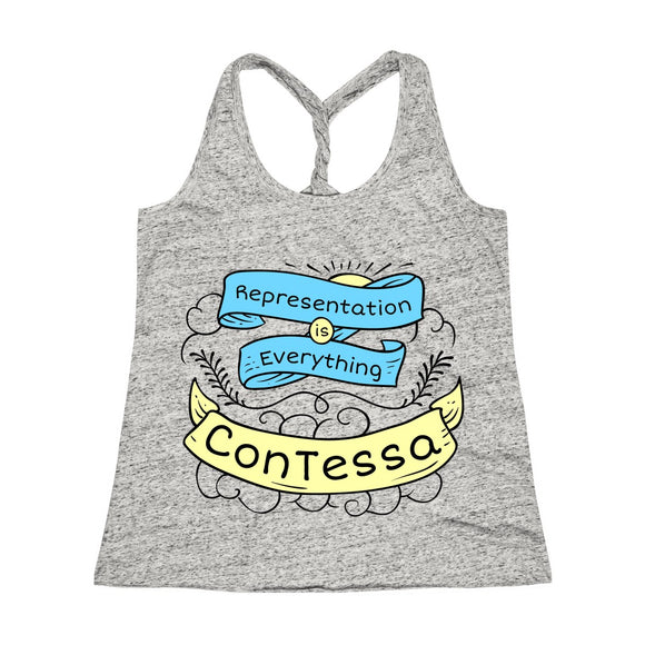 Representation is Everything - Women's Cosmic Twist Back Tank Top