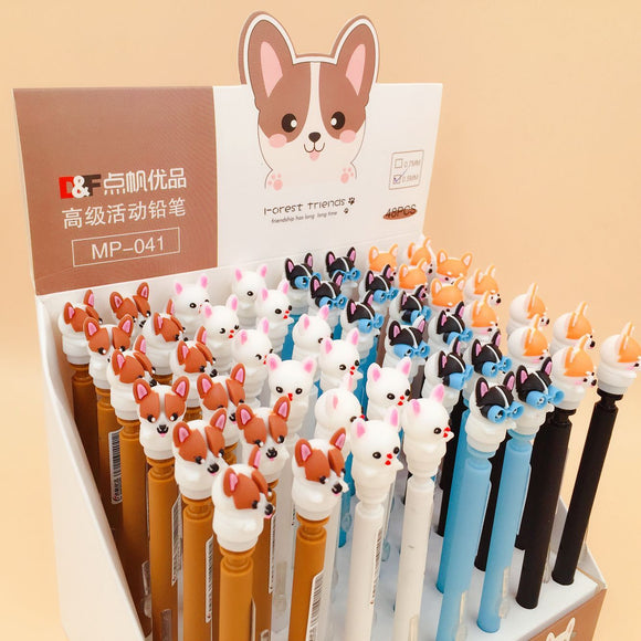 4 pcs/lot Shiba Dog Mechanical Pencil Student Pencil Automatic Pen For Kid School Office Supply Escolar Papelaria