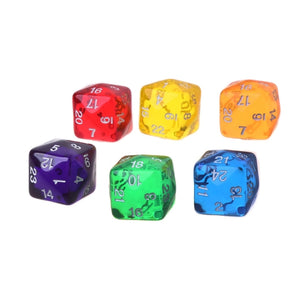 2pcs 24 Sided Digital Dice Transparent Resin Dungeons&Dragon D&D RPG Game Dices