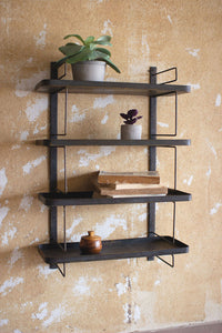 Metal Wall Unit w/4 Shelves