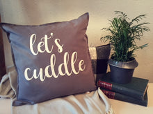 Let's Cuddle Custom Pillow