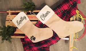 Personalized Stocking Workshop- Furry Friends Rockin' Rescue