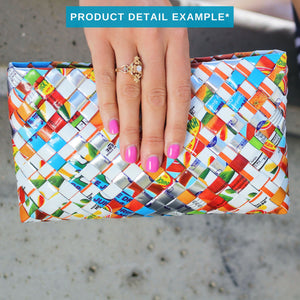 Mother Erth - Mixed Weave Artisan Clutch | Handmade and Eco Friendly