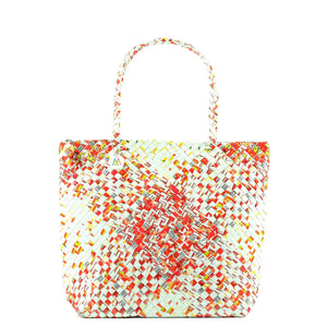 Mother Erth - Red and White Artisan Shoulder Bag | Handmade and Eco Friendly