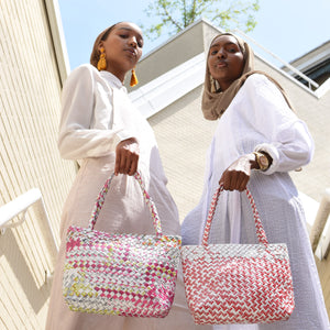 Limited Edition - White Woven Mini Shoulder Bag