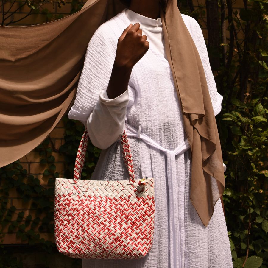 Limited Edition - Red Woven Mini Shoulder Bag