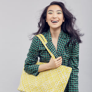 Limited Edition - Yellow Woven Tote