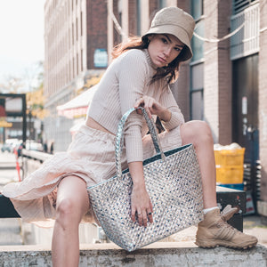 Limited Edition - Silver Woven Tote