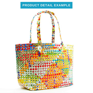Mother Erth - Artisan's Choice Mixed Weave Tote | Upcycled and Eco Friendly