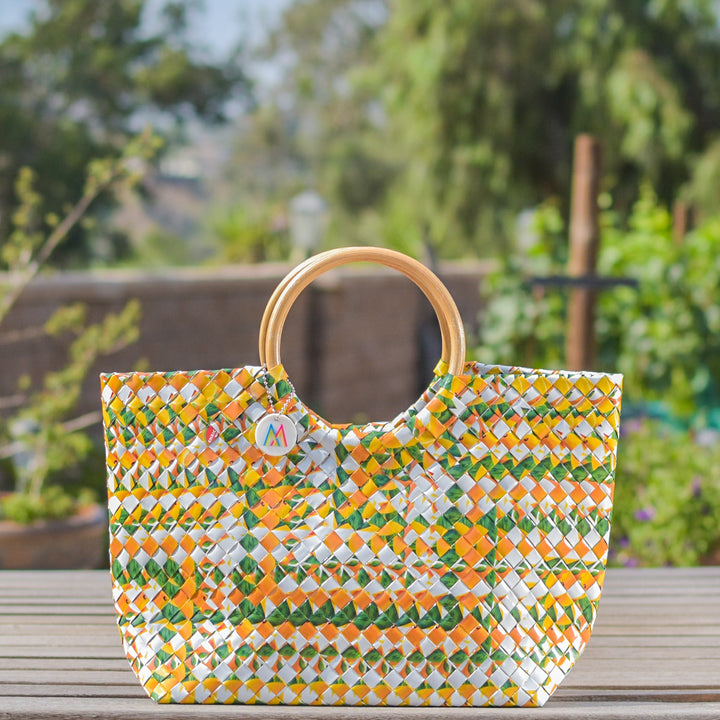 Mother Erth - Limited Edition - Aztec Orange Handbag | Handmade and Eco Friendly
