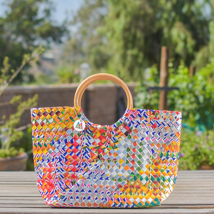 Mother Erth - Limited Edition - Silver Strip Handbag | Handmade and Eco Friendly