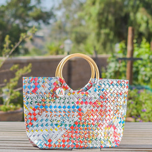 Mother Erth - Limited Edition - Aqua Handbag | Handmade and Eco Friendly