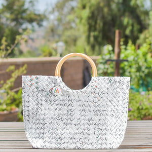 Mother Erth - Limited Edition - White Weave Handbag | Handmade and Eco Friendly