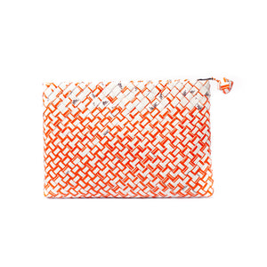 Limited Edition - Orange Woven Maxi Clutch