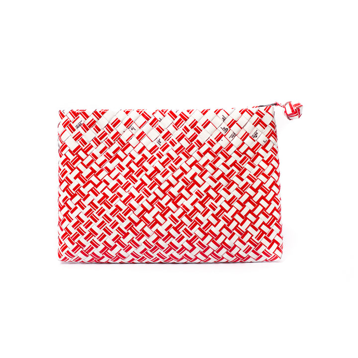 Limited Edition - Red Woven Maxi Clutch
