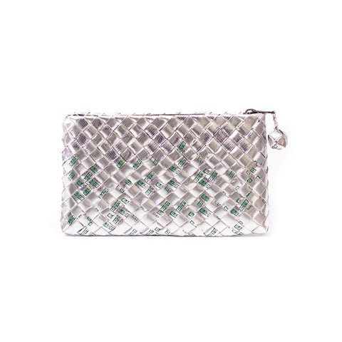 Limited Edition - Silver Woven Clutch