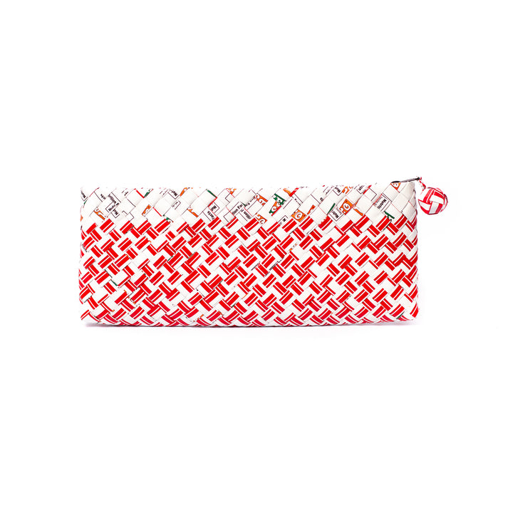 Limited Edition - Red Woven Bar Clutch