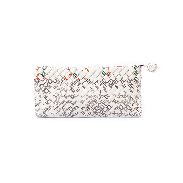 Limited Edition - White Woven Bar Clutch