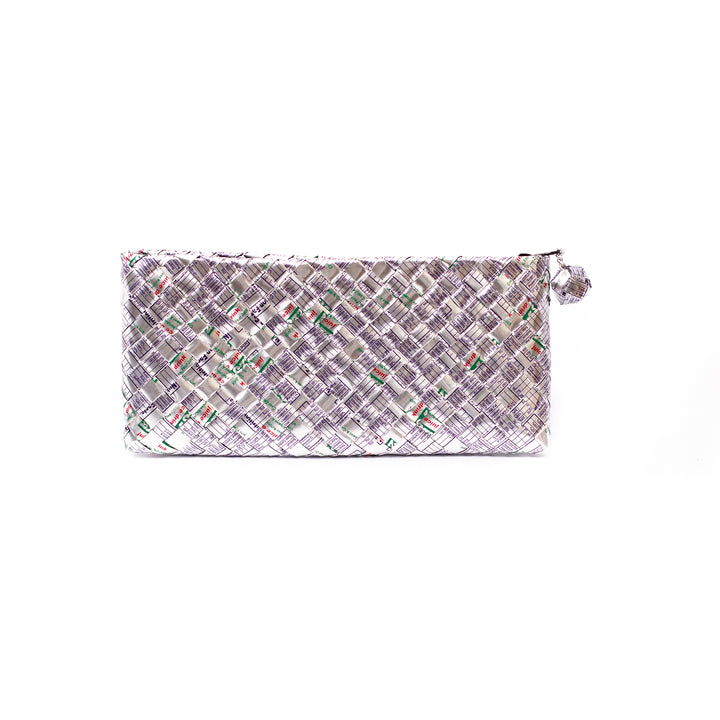 Limited Edition - Silver Woven Bar Clutch