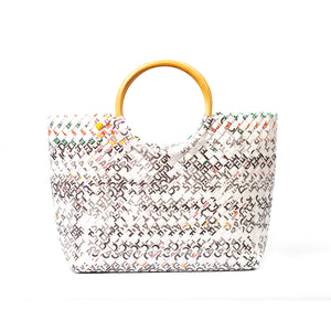 Limited Edition - White Woven Handbag