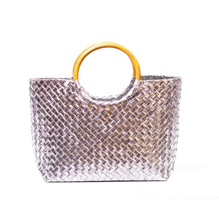 Limited Edition - Silver Woven Handbag