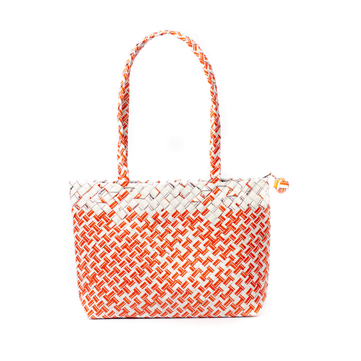 Limited Edition - Orange Woven Mini Shoulder Bag