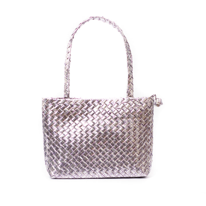Limited Edition - Silver Woven Mini Shoulder Bag