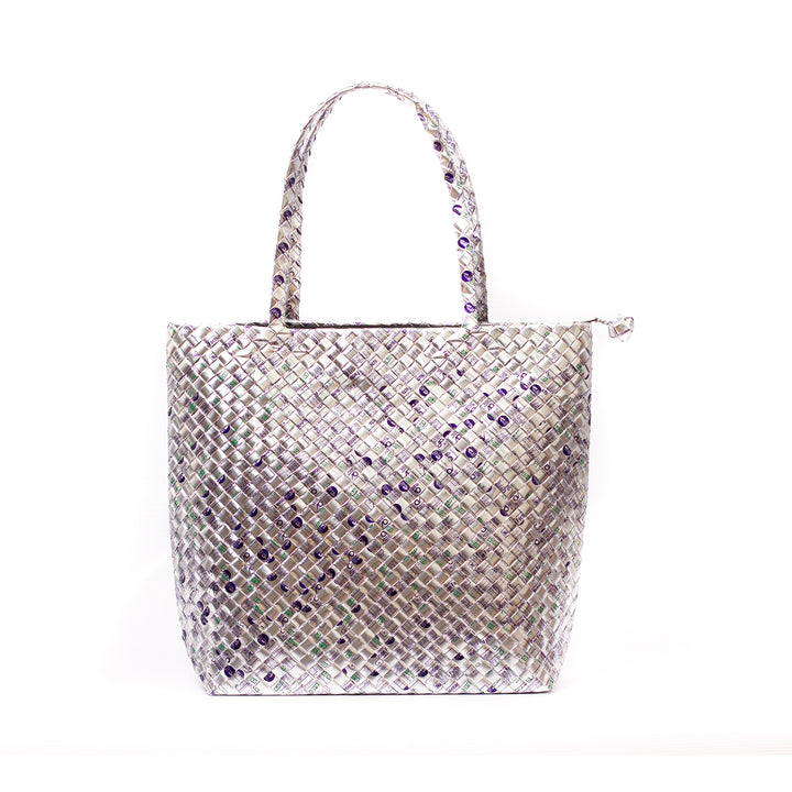 Limited Edition - Silver Woven Shoulder Bag