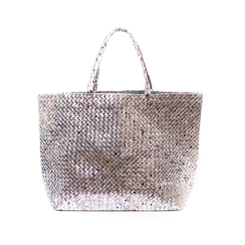 Limited Edition - Silver Woven Maxi Tote