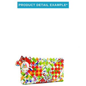 Mother Erth - Mixed Weave Artisan Mini Clutch | Upcycled and Eco Friendly