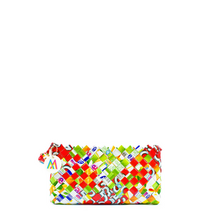 Mother Erth - Red, White, and Green Artisan Mini Clutch | Handmade and Eco Friendly