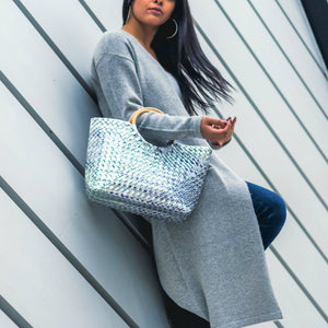 Mother Erth - Silver Woven Handbag | Handmade and Eco Friendly