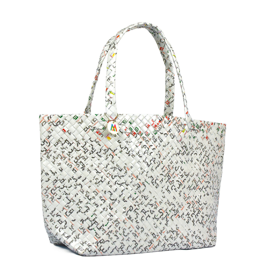 Mother Erth - White Woven Tote | Handmade and Eco Friendly