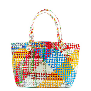 Mother Erth - Mixed Weave Artisan Shopper Tote | Upcycled and Eco Friendly