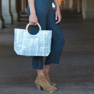 Mother Erth - White Woven Handbag | Handmade and Eco Friendly