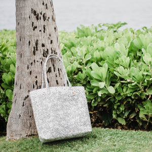 Mother Erth - White Woven Shoulder Bag | Handmade and Eco Friendly
