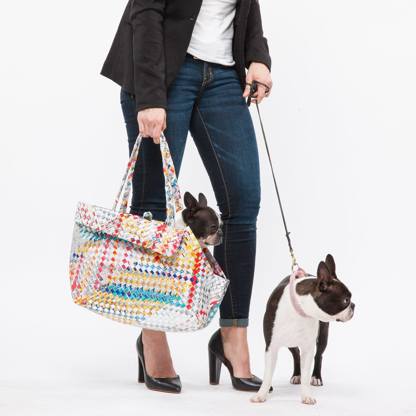 Mother Erth - Mixed Weave Dog Tote | Upcycled and Eco Friendly