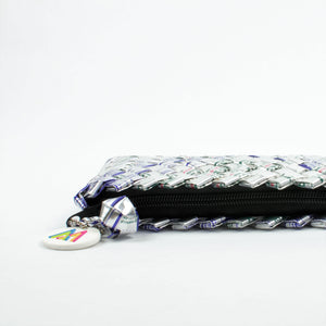 Mother Erth - Silver Mini Clutch | Upcycled and Eco Friendly