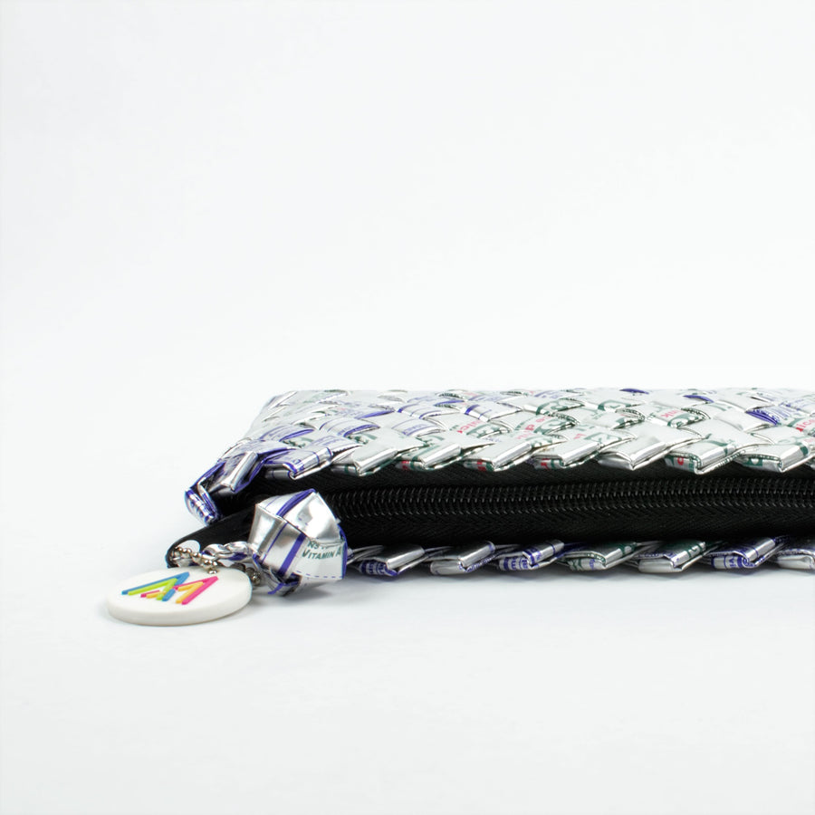 Mother Erth - Silver Mini Clutch | Handmade and Eco Friendly
