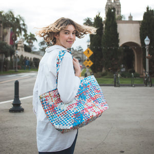 Mother Erth - Artisan's Choice Mixed Weave Tote | Handmade and Eco Friendly