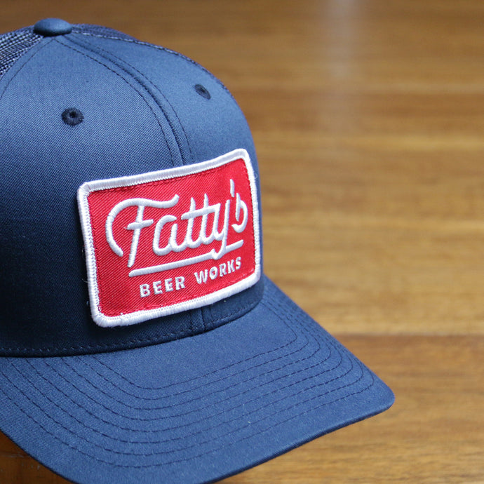 Fatty's Trucker Hat with Red Patch 33% OFF!!